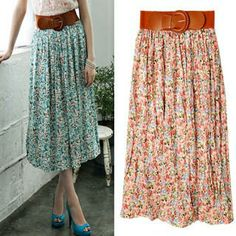 Buy 'Miss Hong – Belted Floral-Print Maxi Skirt' at YesStyle.com plus more South Korea items and get Free International Shipping on qualifying orders.