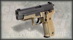 Sig Sauer P226 Combat - a handgun so versatile that it can handle 9mm, 40S, or 357SIG caliber ammunition using factory replacement barrels.
