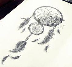Resultado de imagem para modelos de tatuagens filtro dos sonhos ornamentais