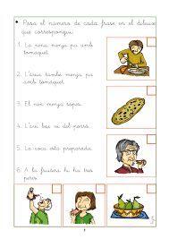 Resultat d'imatges de comprensió lectora per cicle inicial Valencia, Comics, School, Acl, Clocks, Google, Frases, Felt Mouse, Good Handwriting