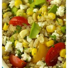 Fresh Corn & Avocado Quinoa Salad**