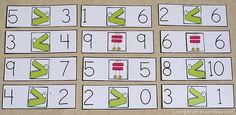 Montessori-Inspired Greater Than Less Than Alligator Math