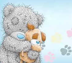 Tatty Teddy and dog Tatty Teddy, Teddy Bear Images, Teddy Bear Pictures, Baby Teddy Bear, Cute Teddy Bears, Cute Images, Cute Pictures, Watercolor Card, Teddy Beer