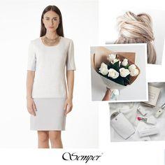 #white #dress #semper #delicate