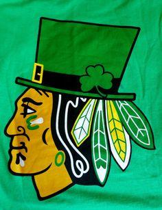 Chicago Blackhawks St Patrick s Day Irish Shamrock Short Sleeve Green M  T-shirt from  24.99 fa5baafe2