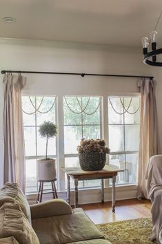 DIY Window Garland: Simple Trick to Add Charm – Beauty For Ashes – Diy Garland 2020 Diy Tassel Garland, Wood Bead Garland, Beaded Garland, Garlands, Diy Concrete Countertops, Window Accessories, Wood Mosaic, Trendy Bedroom, Diy Bedroom