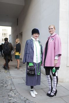 This is what I want to look like when I'm in my 60s. They Are Wearing: London Fashion Week - Slideshow
