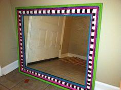Hand Painted Mirror AH Www.facebook.com/ThePaintingRaptor