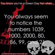 You Know Your A #GreenDay Fan When #43