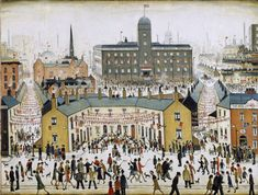 LS Lowry at Tate Britain: glimpses of a world beyond Salford, Framing Canvas Art, Tate Britain, Spencer, English Artists, Art Uk, Naive Art, Art For Art Sake, Urban Landscape