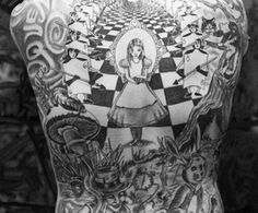 Alice in Wonderland theme tattoos