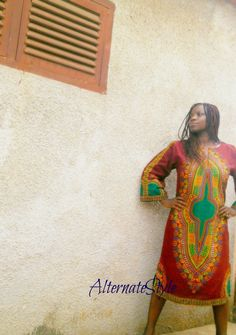 Women's Kaftan Dress Dashiki Kaftan Dress Colours Hippie Festival Dress Custom Tailored to Size by AlternateStyle on Etsy