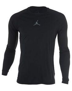 Nike Jordan All Season Mens 642406-010 Black Dri-Fit Long Sleeve Shirt Size 2XL