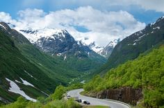 This is the Stryn Valley, part of the Old Strynefjell National Tourist Route.