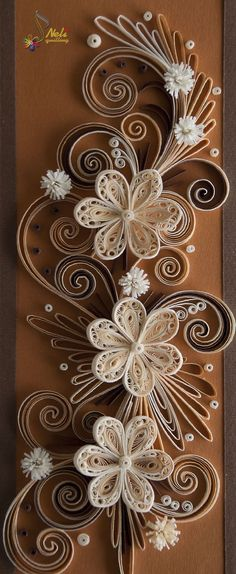 Neli Quilling Art: Quiling card-flowers