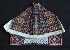 Slovak Kapka cap(back) Embroidery On Clothes, Folk Embroidery, Embroidery Designs, Tribal Dress, Wedding Costumes, Married Woman, Folk Costume, Caps For Women, Festival Wear