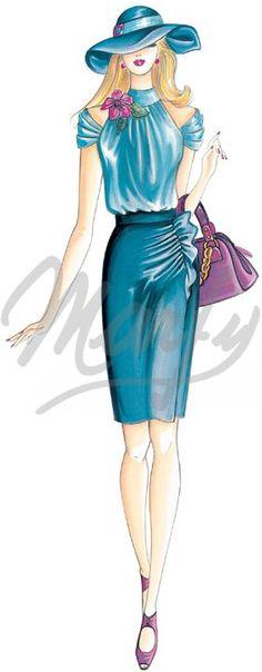 falda drapeada patron - Buscar con Google