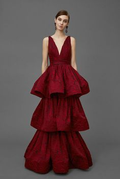 Marchesa, Glamour, Robe, Dress, Red