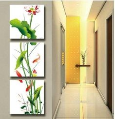 Online Shop Free Shipping !!! Goldfish and Lotus ,Modern Oil Painting On Canvas Wall Art ,Top Home Decoration JYJATH009|Aliexpress Mobile