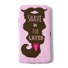 Shave it for Later Glitter Hardcase Wallet | Claire's