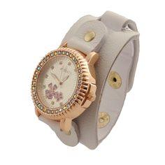 Relógio Bracelete Branco  www.relogiosdadora.com.br