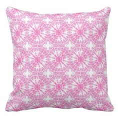 Hot Pink and White Tie Dye Print Pillow