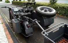 ZUNDAPP KS750〔獨戦中軍用サイドカー/2軸ドライブ/3人乗り車検取得済〕 Cargo Bike, Moto Bike, Cool Motorcycles, Vintage Motorcycles, Three Wheel Bicycle, Ural Motorcycle, Army Gears, Custom Trikes, Into The West