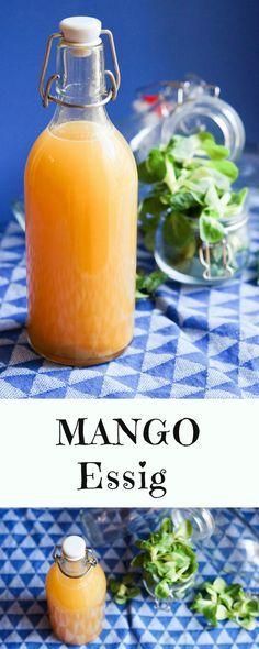 Ein fruchtiger #MangoEssig selbstgemacht. #Essig #Salat #Dressing #DIY