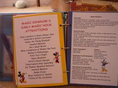 Disney Planner...go to allears website and print menus for Quick/Counter Service restaurants.