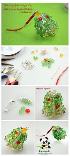 Jewelry Making Tutorial-How to DIY Beaded Christmas Charms | PandaHall Beads Jewelry Blog