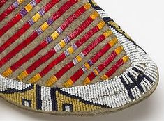 Porcupine Quillwork for Sale | Native smoked hide, glass beads, porcupine quills, cotton, tin, horse ...