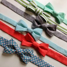 Baby and boy bow ties
