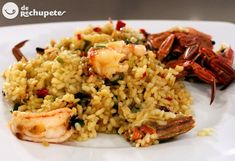 Receta de arroz con nécoras - Recetasderechupete.com Fish Recipes, Seafood Recipes, Cooking Recipes, Chefs, Spanish Dishes, Sunday Recipes, Savoury Dishes, Stuffed Green Peppers, Fish And Seafood