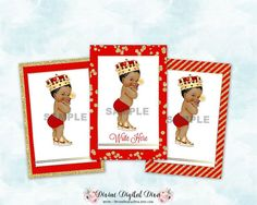 ♥ AFRICAN AMERICAN Little Prince thank you/gift tags/labels. 3 designs on an 8.5 x 11 sheet for a total of 9 images per sheet. ♥ There is a place on the tag for you to write on by hand or load document into Photoshop, Word or Google Docs type program and add text there.  ♥ You will receive 3 designs on a digital 8.5 x 11 sheet in JPG format 300 dpi. ►►Value Package: https://www.etsy.com/listing/472911664/ ►►Package with Baby: https://www.etsy.com/listing/486409181/ ►AA Prince Carriage…