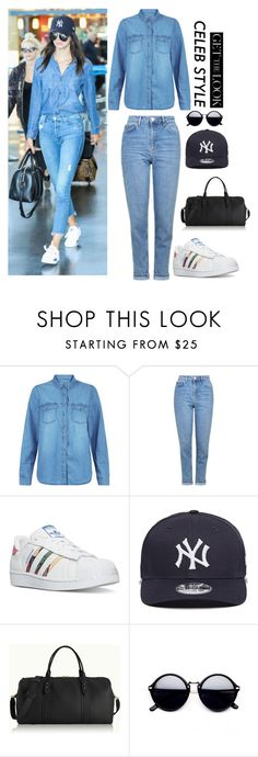 """""""Untitled #376"""" by musicwildlife ❤ liked on Polyvore featuring New Look, Topshop, adidas, New Era, GiGi New York, GetTheLook and hats"""
