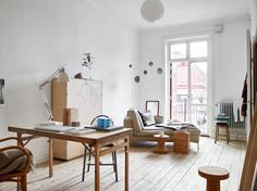 Style and Create - Unique loft apartment in Gothenburg Cheap Wall Decor, Cheap Home Decor, Interior Decorating, Interior Design, Decorating Ideas, Cool Apartments, Home And Deco, Home Decor Bedroom, Home And Living