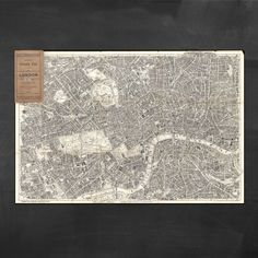 Pocket Map of London on canvas. #forthehome