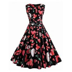 SHARE & Get it FREE | Strawberry Print Sleeveless Vintage DressFor Fashion Lovers only:80,000+ Items·FREE SHIPPING Join Dresslily: Get YOUR $50 NOW!