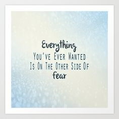 The Other Side Of Fear Art Print by Pati Designs - $19.50