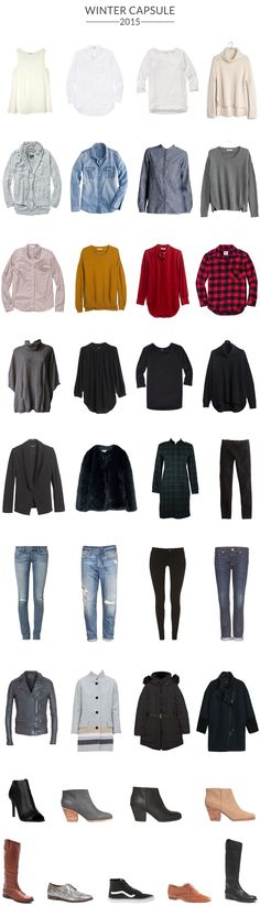 My Winter Capsule 2015 - 37 items to wear for the next 3 months.