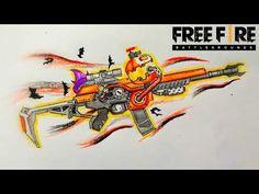 How to draw XM8 Orange Evil Pumpkin || Garena Free Fire || Vẽ XM8 Đêm Ma Quái || XM8 Dơi Quỷ - YouTube