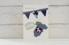 It's a boy! - New Baby Card - Personalised £2.50