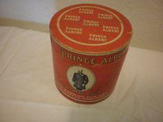 RARE Prince Albert Crimp Cut Long Burning Pipe & Cigarette Tobacco Cardboard Tin