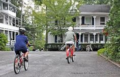 Chautauqua Institution - Street Scene (riding East along Miller Avenue towards Roberts Avenue) - photo by joenickol, via Flickr
