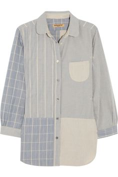 Levi's Made & Crafted|Gingham and striped cotton shirt|NET-A-PORTER.COM