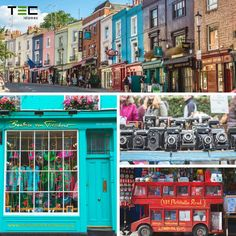 ¿Qué hacer un sábado por la mañana en #Londres? ➺ Coge el metro y adéntrate en Portobello Market El famoso mercado de antigüedades de Notting Hill  #StudyAbroad #CursosInglés  Estancias en el extranjero, viajar a londres, london, study in london, plans in london, cursos de idiomas
