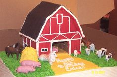 Barn Cake by Creative Cakes For All Occasions, via Flickr