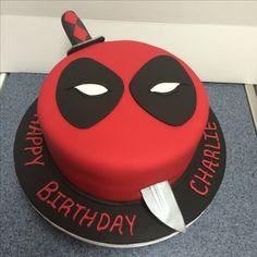 Fondant Deadpool Cake