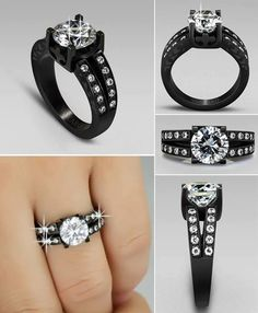 Omg i love this ring, i want please! Black ring