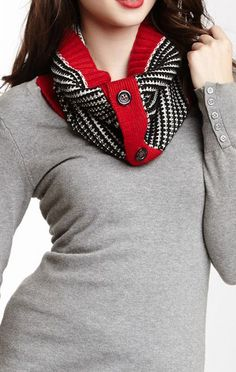Textured Stripe Neck Warmer